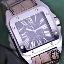 Cartier Santos 100 Stahl Grau Römisch