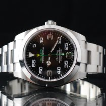 Rolex Air King Stahl 40mm Schwarz Arabisch