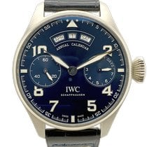 IWC White gold Automatic Blue Arabic numerals 46mm pre-owned Big Pilot