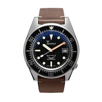 Squale Steel 42mm Automatic 1521 Squale 1521 Brushed Black new