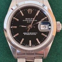 Rolex Oyster Perpetual Lady Date occasion 26mm Noir Date Acier