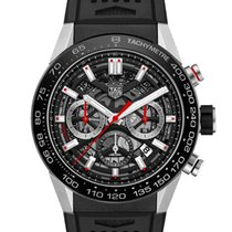 TAG Heuer Carrera Heuer-02T Steel 45mm Transparent No numerals