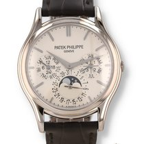 Patek Philippe Perpetual Calendar White gold 37.2mm Silver United States of America, New Hampshire, Nashua