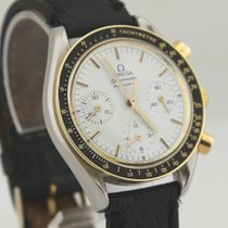 Omega Speedmaster Reduced pre-owned 39mm White Chronograph Leather