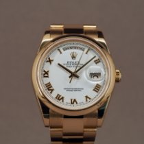 Rolex Day-Date 36 Rose gold 36mm White