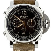 Panerai Luminor 1950 3 Days Chrono Flyback pre-owned 44mm Black Flyback Calf skin