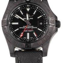 Breitling Avenger II GMT Acero 43mm Negro