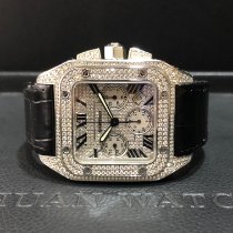 Cartier Santos 100 Steel 55mm White Roman numerals Singapore, Singapore