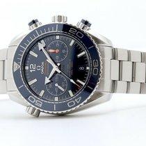 Omega Seamaster Planet Ocean Chronograph Stahl 45mm Blau Keine Ziffern