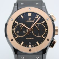 Hublot Classic Fusion Chronograph Gold/Stahl 45mm Schwarz