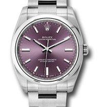 Rolex Oyster Perpetual 34 Steel 34mm Red