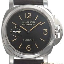Panerai Luminor Base 8 Days Acero 44mm Negro Árabes