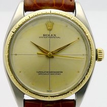 Rolex Oyster Perpetual 34 Gold/Steel 34mm Silver No numerals