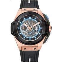 Hublot King Power Roségold 48mm Schwarz