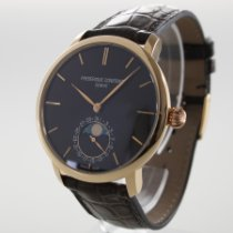 Frederique Constant Red gold Automatic No numerals 42mm pre-owned Manufacture Slimline Moonphase