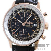 Breitling Rose gold Automatic Black 42mm pre-owned Old Navitimer