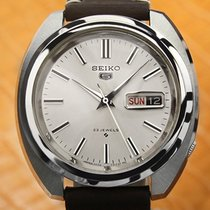 Seiko 5 Steel 39mm Silver No numerals United States of America, Connecticut, Darien