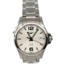 Longines Conquest Steel 41mm Silver Arabic numerals United States of America, New York, New York