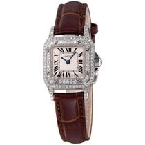 Cartier Santos (submodel) pre-owned 24mm White Leather