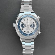 Breitling Transocean Chronograph Stahl 42mm Silber