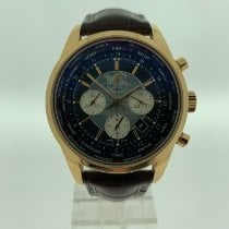 Breitling Transocean Chronograph Unitime Rose gold 46mm Black No numerals