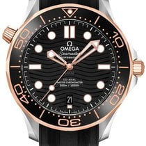 Omega Seamaster Diver 300 M Gold/Steel 42mm Black No numerals United States of America, Iowa, Des Moines