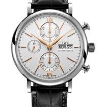 IWC Portofino Chronograph Steel 42mm Silver No numerals
