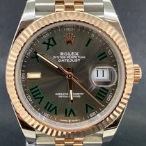 Rolex Datejust II Gold/Stahl 41mm Grau Römisch