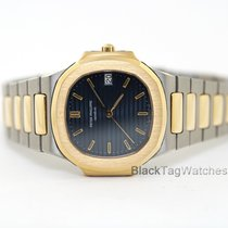Patek Philippe Yellow gold Quartz Blue 33mm pre-owned Nautilus