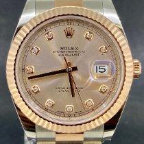 Rolex Datejust II Or/Acier 41mm Rose Sans chiffres