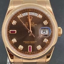 Rolex Day-Date 36 occasion 36mm Brun Date or rose