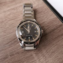 Omega Steel Automatic Black 39mm pre-owned Seamaster 300