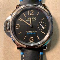 Panerai Luminor Marina 8 Days Acero 44mm Negro Árabes