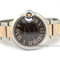Cartier Ballon Bleu 42mm pre-owned 42mm Brown Date Gold/Steel