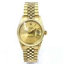 Rolex Oyster Perpetual Date pre-owned 34mm Champagne Date Yellow gold