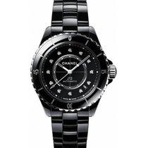 Chanel J12 Céramique 38mm Noir Sans chiffres