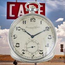 IWC Uhr gebraucht 1924 Silber 48mm Arabisch Handaufzug Nur Uhr