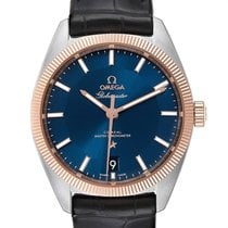 Omega Globemaster Gold/Steel 39mm Blue United States of America, Georgia, Atlanta