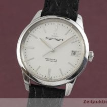 Jaeger-LeCoultre Geophysic True Second pre-owned 40mm Silver Date Crocodile skin