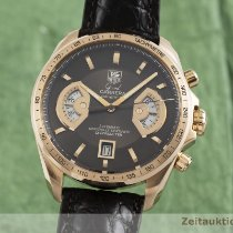 TAG Heuer Red gold Automatic Brown 43mm pre-owned Grand Carrera