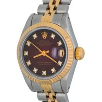 Rolex Lady-Datejust Otel 25mm Rosu Fara cifre