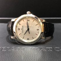 Jaeger-LeCoultre Master Control Date Stal 40mm Srebrny Bez cyfr