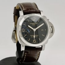 沛納海 Luminor 1950 3 Days GMT Automatic 鋼 44mm 黑色 阿拉伯數字