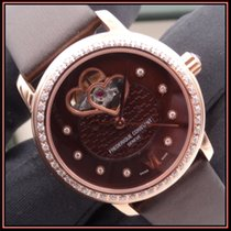 Frederique Constant Classics Heart Beat pre-owned 34mm Brown Leather