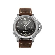 Panerai Luminor 1950 8 Days Chrono Monopulsante GMT Titanium 44mm Brown Arabic numerals United States of America, Pennsylvania, Bala Cynwyd