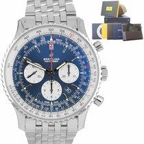Breitling ny Automatisk Selvlysende visere Kronometer Dreibar bezel Skrukrone 46mm Stål Safirglass