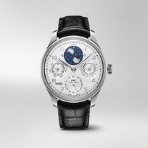 IWC Platine Remontage automatique Blanc Arabes 44,2mm nouveau Portuguese Perpetual Calendar