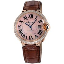 Cartier new Automatic Tempered blue hands 36mm Rose gold Sapphire crystal