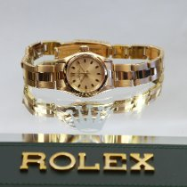Rolex Oyster Perpetual 26 Yellow gold 25mm Champagne No numerals