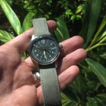 Hamilton Khaki Field Steel 40mm Green Arabic numerals United States of America, Texas, Sugar land